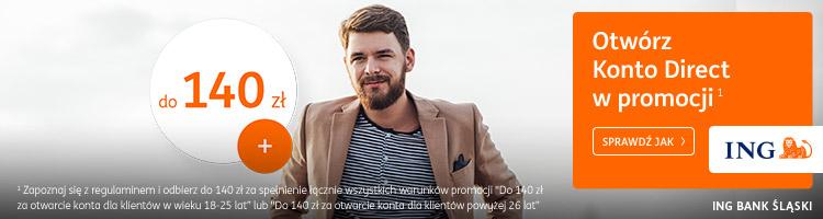 baner ING 100 zł za konto direct