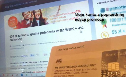Moje konto w WBK z poprzedniej edycji karta i blog